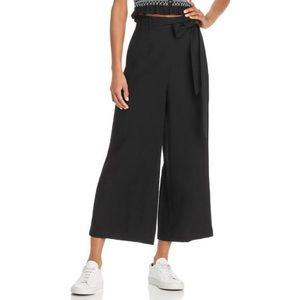 Lost + Wander wide leg pants M black high waist